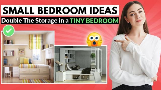 double the storage in a tiny bedroom
