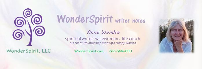 WonderSpirit Writer Notes newsletter