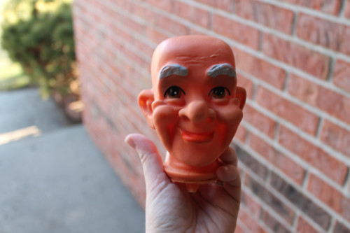 Clean Old Man Puppet Head