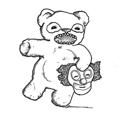 Scary Teddy Bear And Drunk Clouds – Wonderstrange Arts