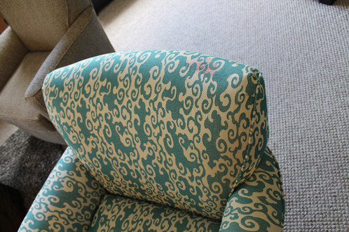 Oh yes.  That's hair dye on Ann's brand new chair.  Talk about a curse!