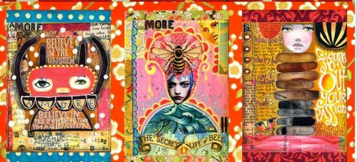 Beautiful journal pages by Teesha Moore