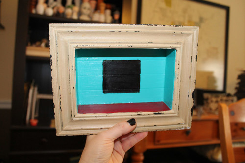 Window Painted Black