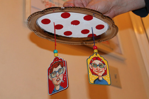 Tray with Polka Dots and Tags
