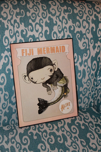 02 Fiji Mermaid Print in Frame