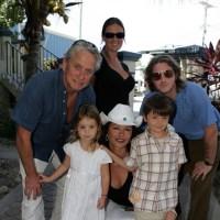 Michael Douglas, Catherine Zeta-Jones, kids Carys, Dylan, Cameron, Kelly Scott