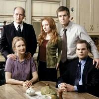 Six Feet Under cast, Richard Jenkins, Lauren Ambrose, Peter Krause, Frances Conroy, Michael C. Hall