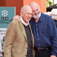 Carl Reiner and Rob Reiner hand and footprint ceremony, Los Angeles, USA – 07 Apr 2017