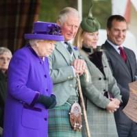 Queen Elizabeth II, Prince Charles, Autumn Phillips, Peter Phillips