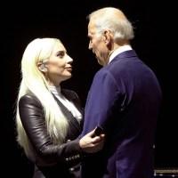Joe Biden and Lady Gaga