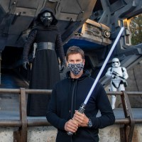 Tom Brady, Star Wars Galaxy's Edge, Disney World, Kylo Ren, lightsaber