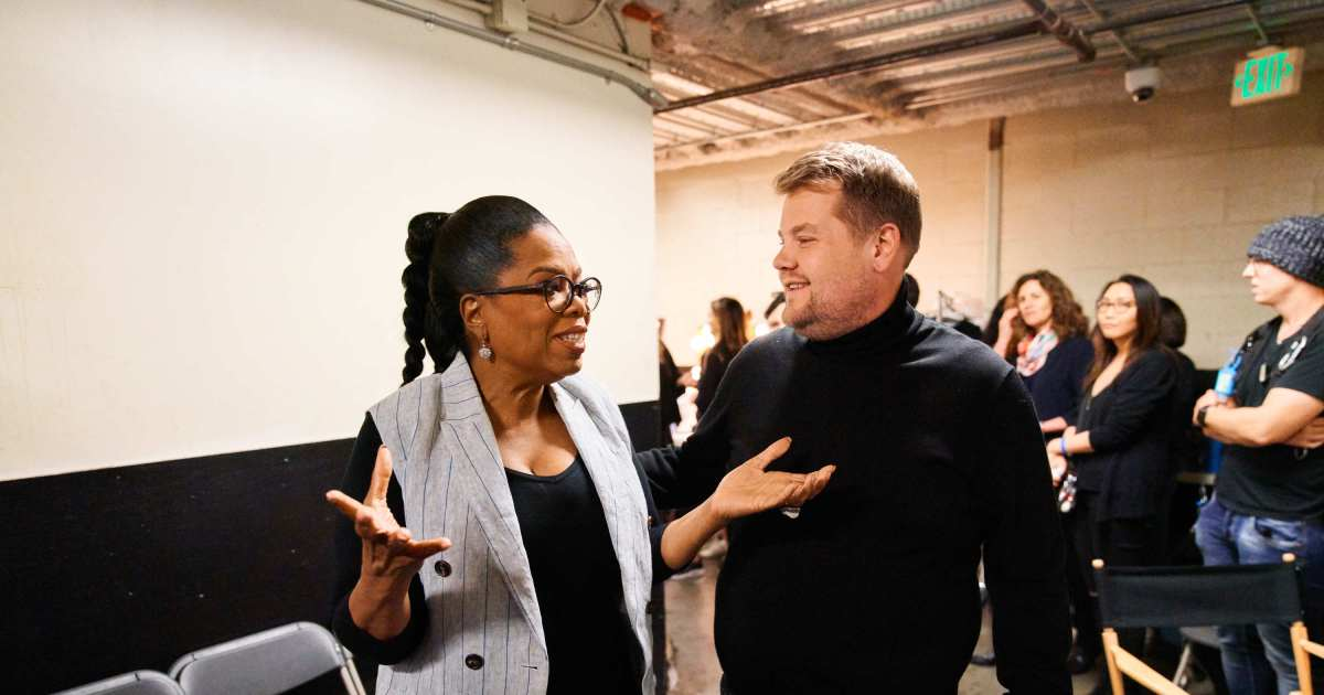 James Corden almost revealed Oprah's phone number on the air  Wonderwall.com