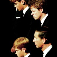 Prince Philip, Prince William, Charles Spencer, Prince Charles and Prince Harry