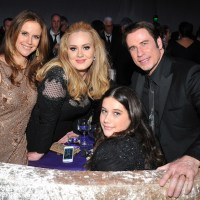 Kelly Preston, John Travolta, daughter Ella Bleu, Adele