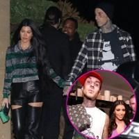 Kim Kardashian, Travis Barker, Kourtney Kardashian