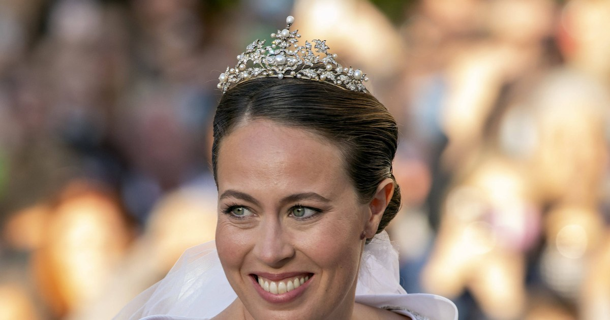 See newlywed Princess Nina of Greece and Denmark's diamond sparkler, plus more amazing royal bridal tiaras.jpg