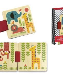 leesboek safari, hout petit collage -liefsvanlauren.nl