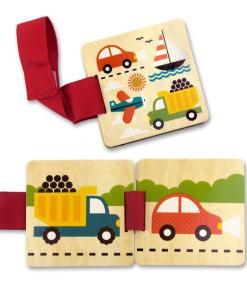 Leesboek voertuigen hout - Petit Collage -liefsvanlauren.nl
