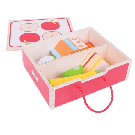 Lunchbox van hout -bigjigs, wonderzolder.nl