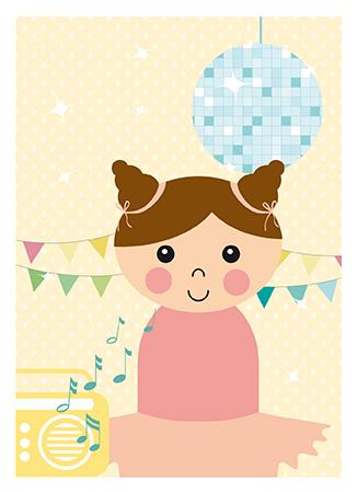 Poster ballerina van Papiergoed