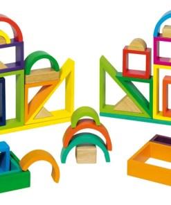 regenboog bouwblokken Goki houten speelgoed Goki -wonderzolder.nl
