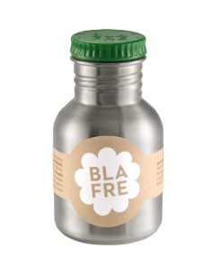 Steel bottle 300 ml Dark Green, Blafre, legergroen -wonderzolder.nl
