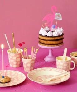 Pink Cloud Tableware, roze wolkjes servies -wonderzolder.nl