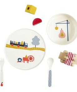 Set kinderservies 'Lion' , tableware Engel., Engelpunt -wonderzolder.nl