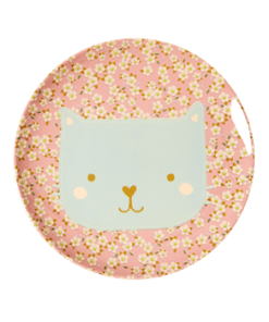Lunch plate animal print Cat, RICE, Melamine, wonderzolder.nl