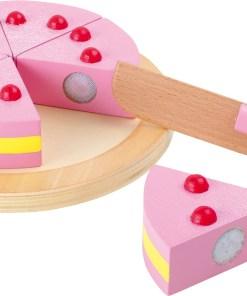 Verjaardagstaart basic van hout, small foot, cutting cake -wonderzolder.nl