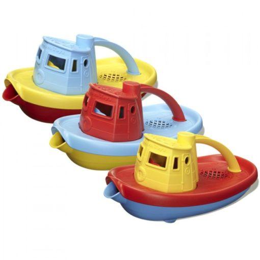 Sleepboot blauw Green Toys -wonderzolder.nl