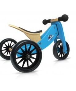 TinyTot blauwe loopfiets, Kinderfeets, 2-in-1 fiets, Tiny tot, wonderzolder.nl
