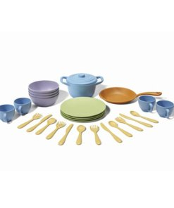 Chef set groot, Green Tous, dinerset, pannenset, servies, wonderzolder.nl