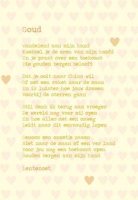 Gedicht Goud Lentezoet