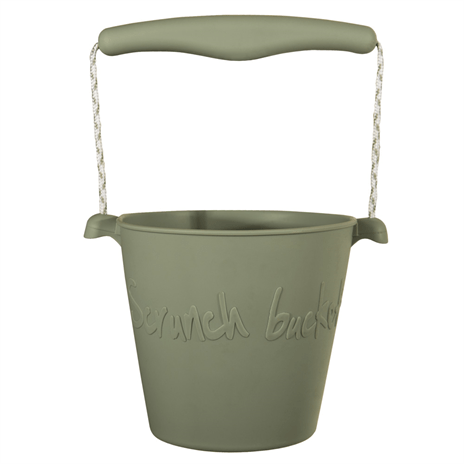 Scrunch bucket misty grey, opvouwbare emmer, wonderzolder.nl