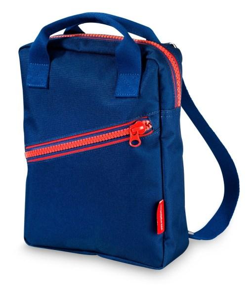 Rugzak small 'zipper dark blue', engelpunt, rugzak, wonderzolder.nl