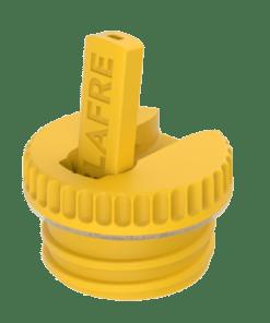 Dop met tuit geel, blafre, steel bottle, RVS Fles, wonderzolder.nl