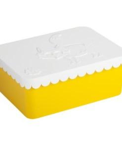 Lunchbox klein vos wit/geel, Blafre, broodtrommel met 1 vak -wonderzolder.nl