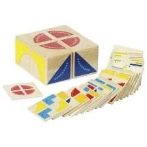 Herken de vormen puzzel, Goki, spel, na bouwen met vierkanten, wonderzolder.nl