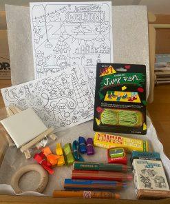 thuisonderwijs box medium, cadeautje, thuis spelen en leren, wonderzolder.nl
