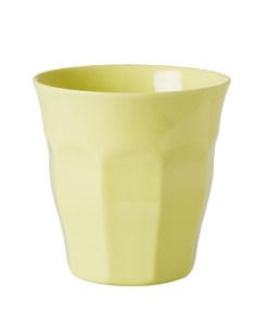 rice cup melamine soft yellow