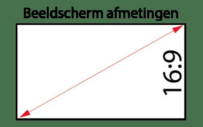 Beeldscherm afmetingen berekenen