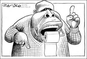 Malema Zapiro cartoon - potty mouth