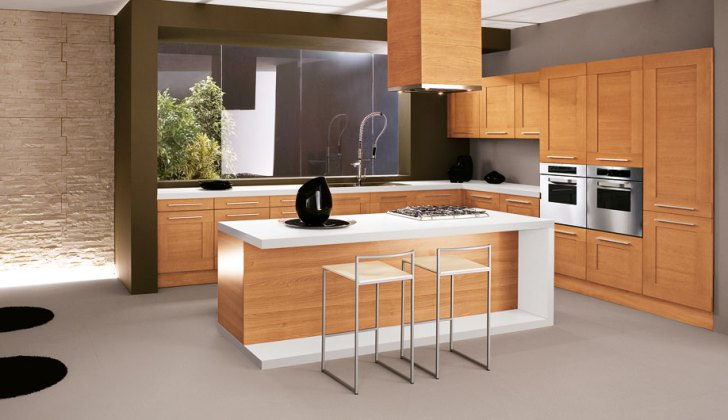 Sally Kitchen Modern Frame Solid Wood