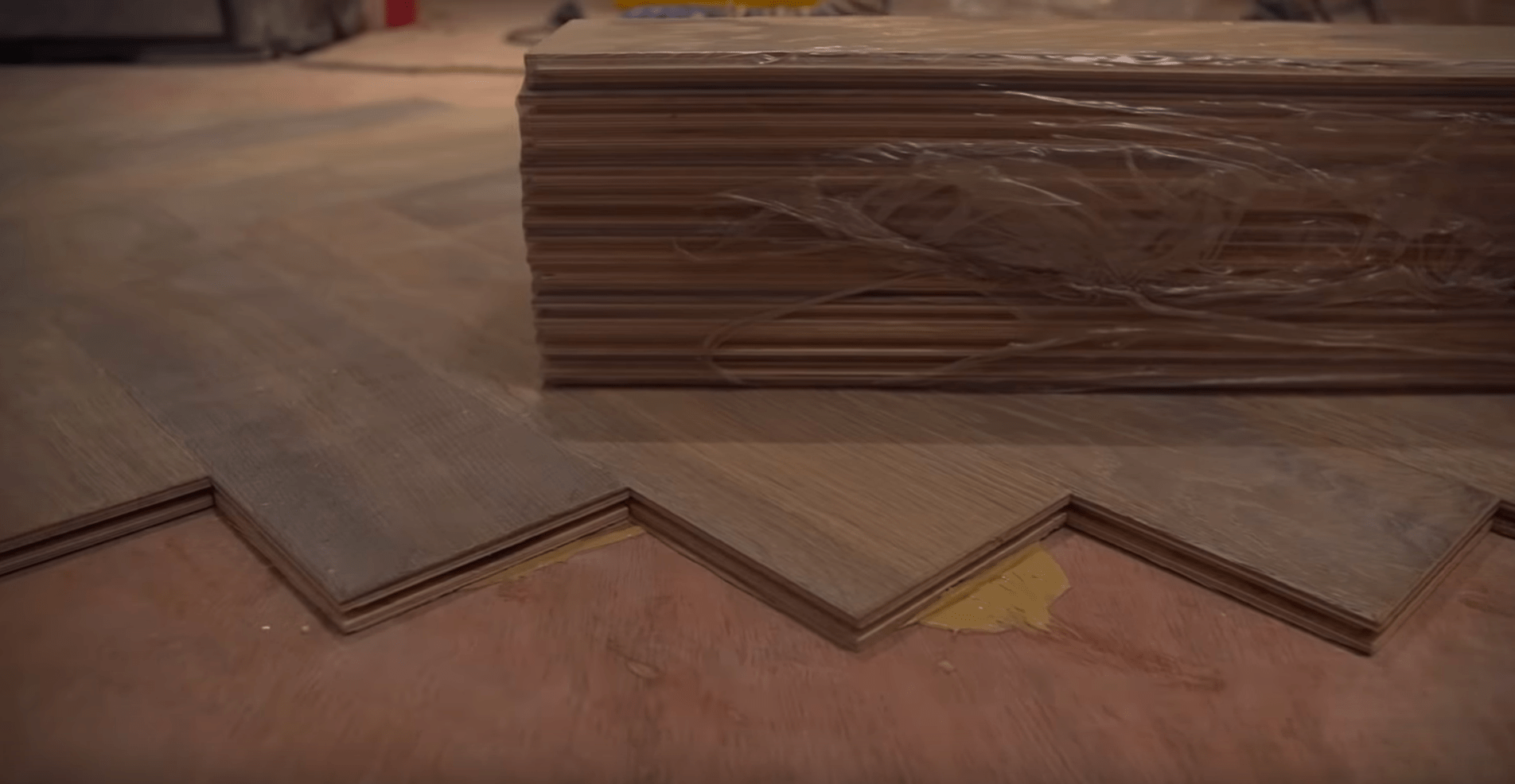laying solid wood flooring onto