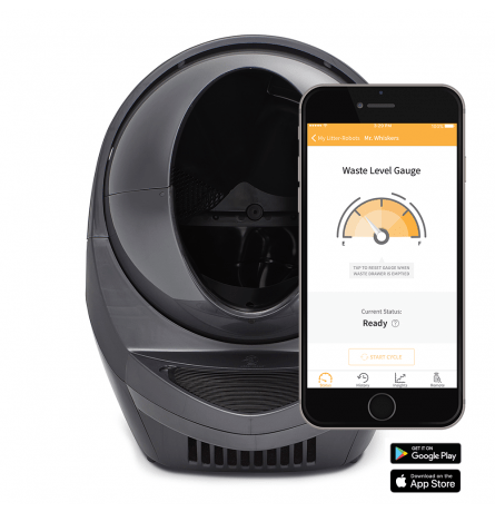 Litter Robot Open Air Wifi connect Grey Grijs met app RobotCleaners