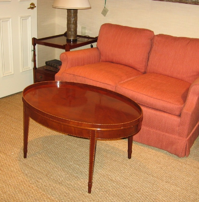 Mahogany Oval Coffee Table