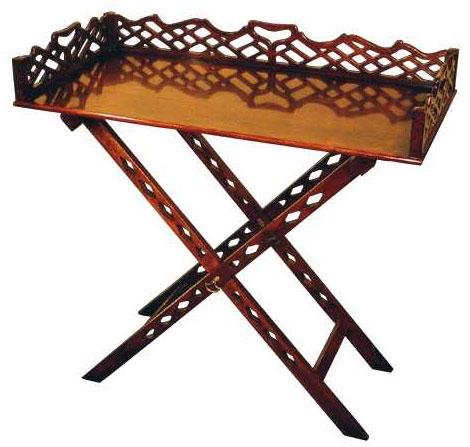 Mahogany Chippendale Style Tray.