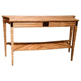 37024Z Zebrano Side Table - Angle
