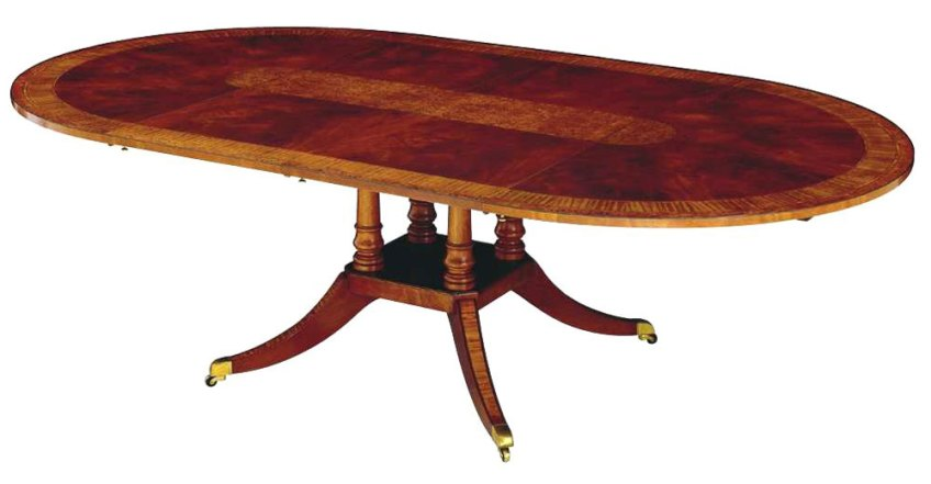 Mahogany Circular Extending Table